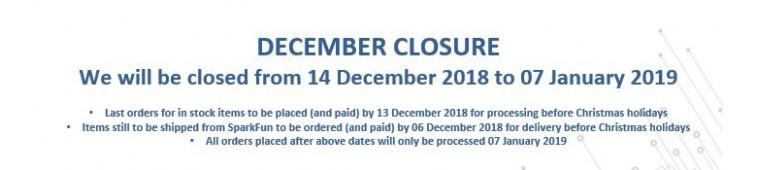 December Close 2018