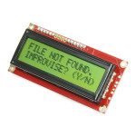 SparkFun Serial Enabled 16x2 LCD - Black on Green 3.3V