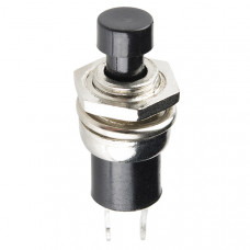 Momentary Button - Panel Mount (Black)