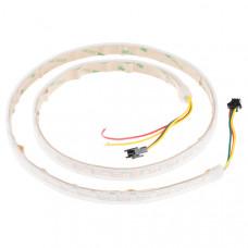 White Tri-Color LED Strip - Addressable, Sealed (1m)