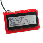 SparkFun 20x4 SerLCD - Black on RGB 3.3V