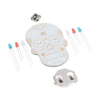 Day of the Geek - Soldering Badge Kit (White)