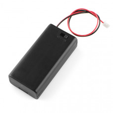 Battery Holder 2xAA with Cover and Switch - JST Connector